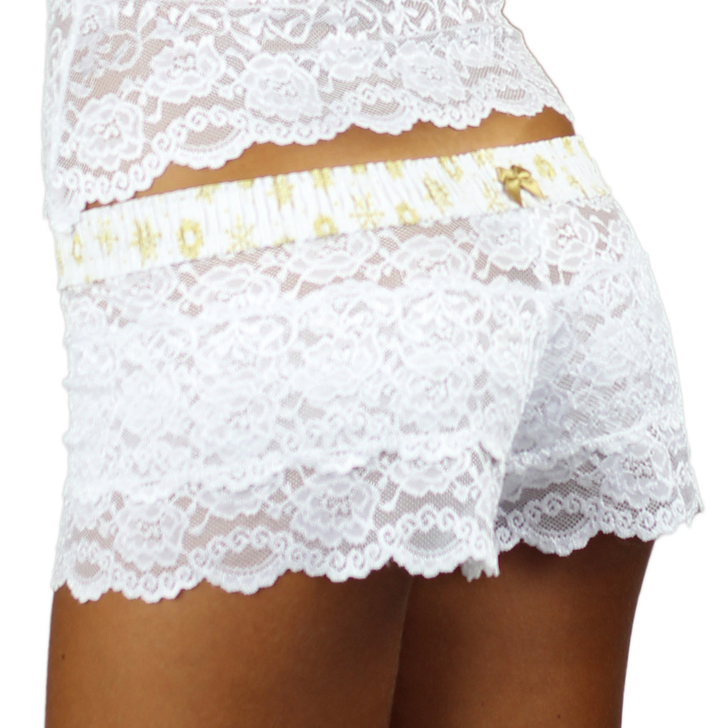 Wintry White Lace Boxers