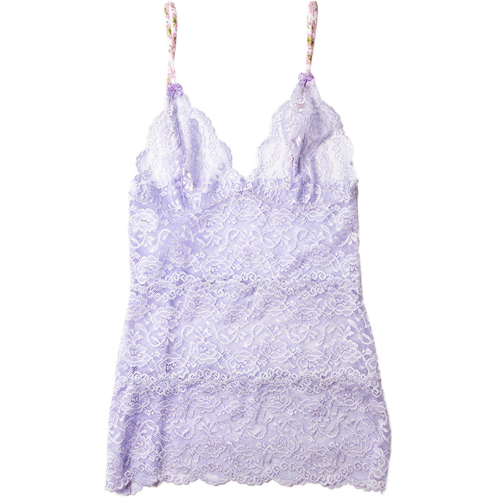 Hip Length English Lavender Lace Nightie