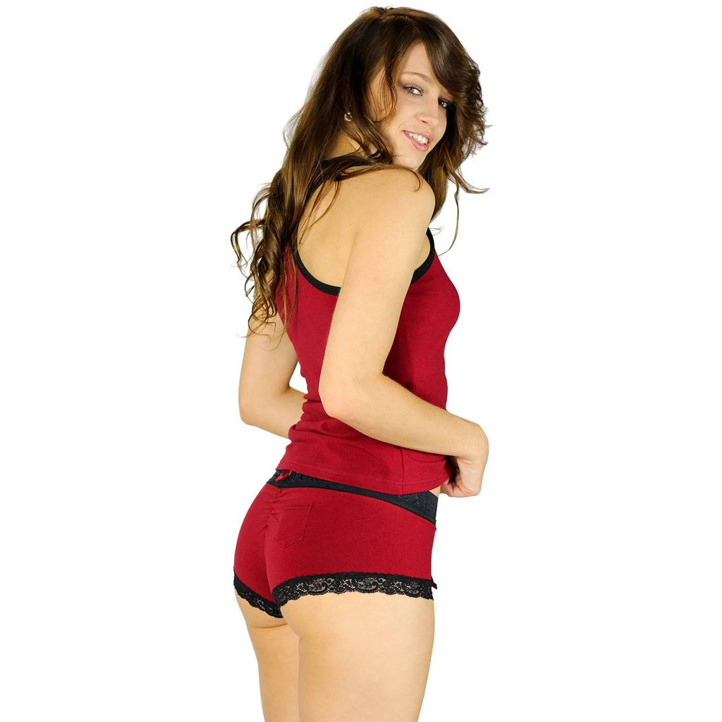 Womens Athletic Tank Top Dark Red (Black Cherry)