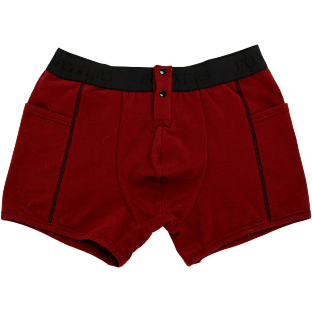 Men's Black Cherry Boxer Briefs with Foxers Logo Band