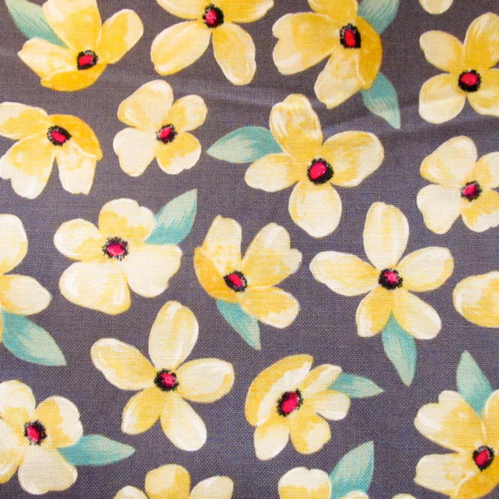 Sunshine Yellow Lace Boxer   Posies Print Band
