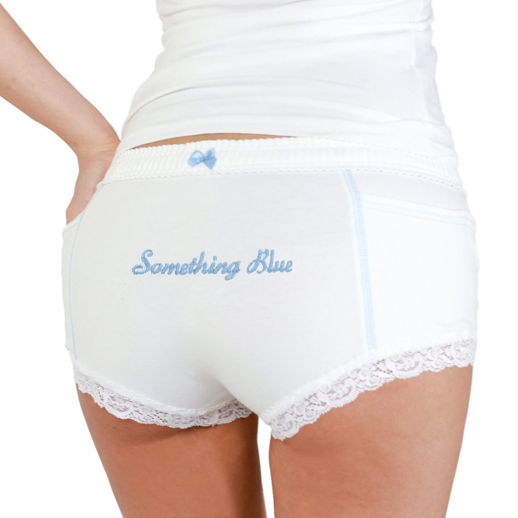 """Something Blue"" Monogrammed Boxer Briefs"