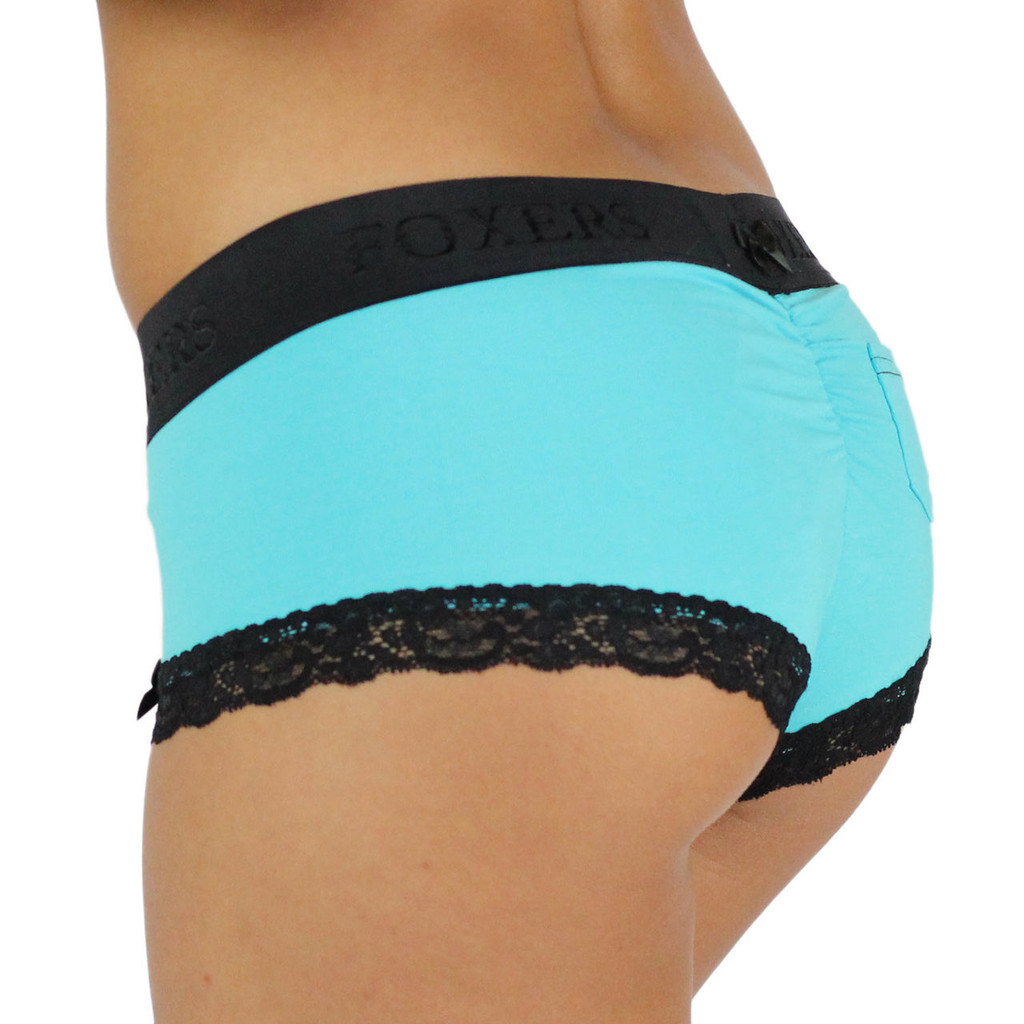 Santorini Blue Boyshorts Panties with Flat Waistband