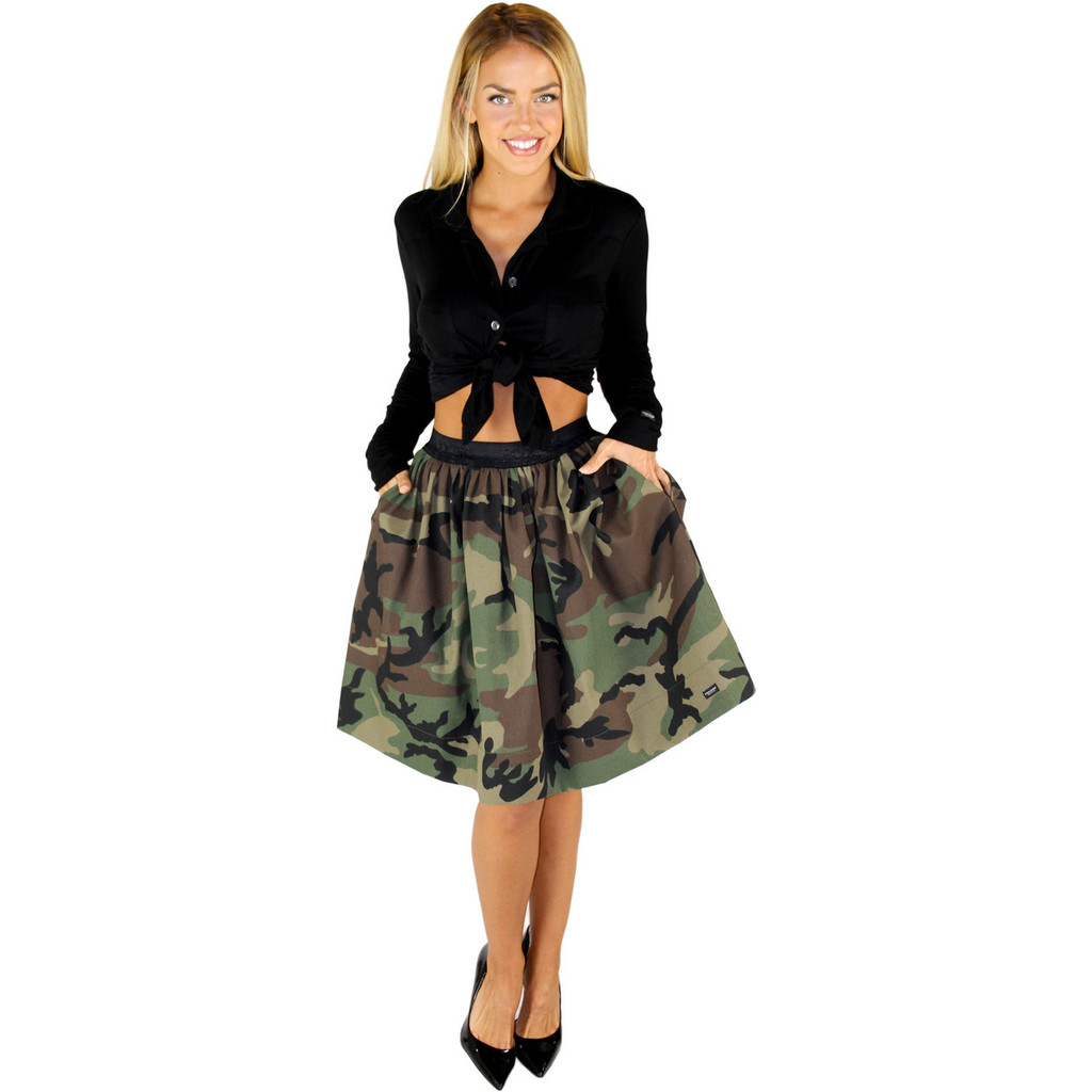 Sexy Camo Skirt with Hidden Pockets on both sides!