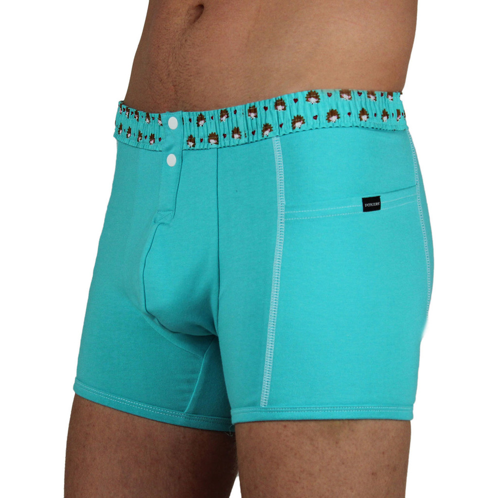 Men's FOXERS Boxer Brief with Hedgehog Band