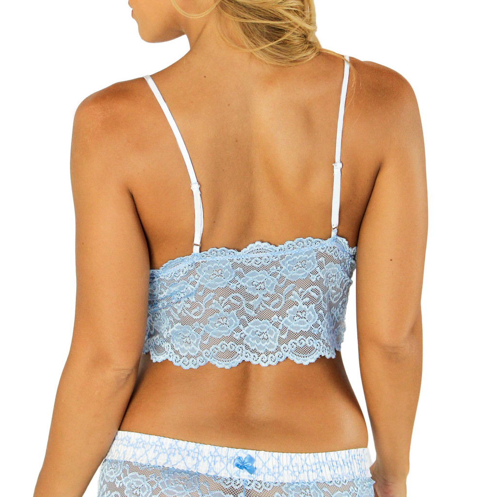 Ivory Adjustable Straps on our Cropped Lace Camisoles