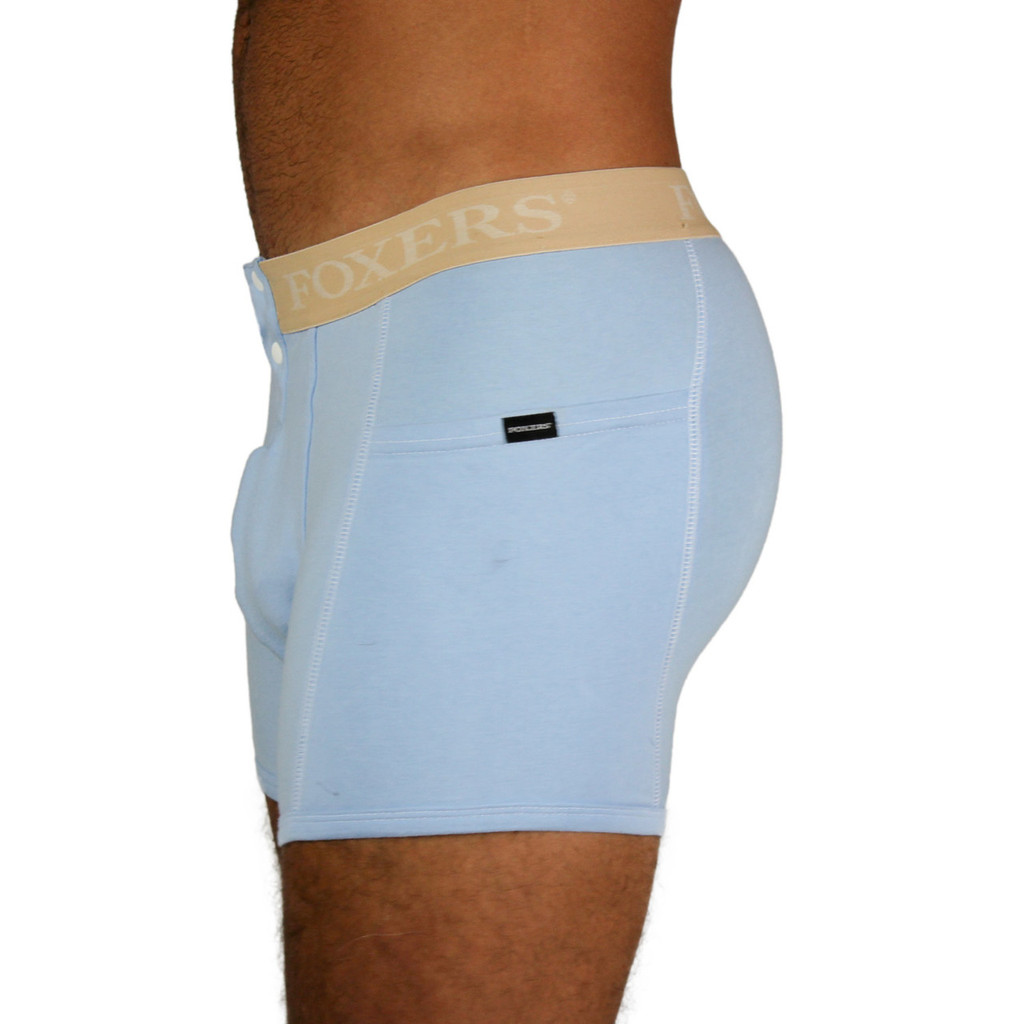 Men's Lt Blue Boxer Brief | Nude FOXERS Band