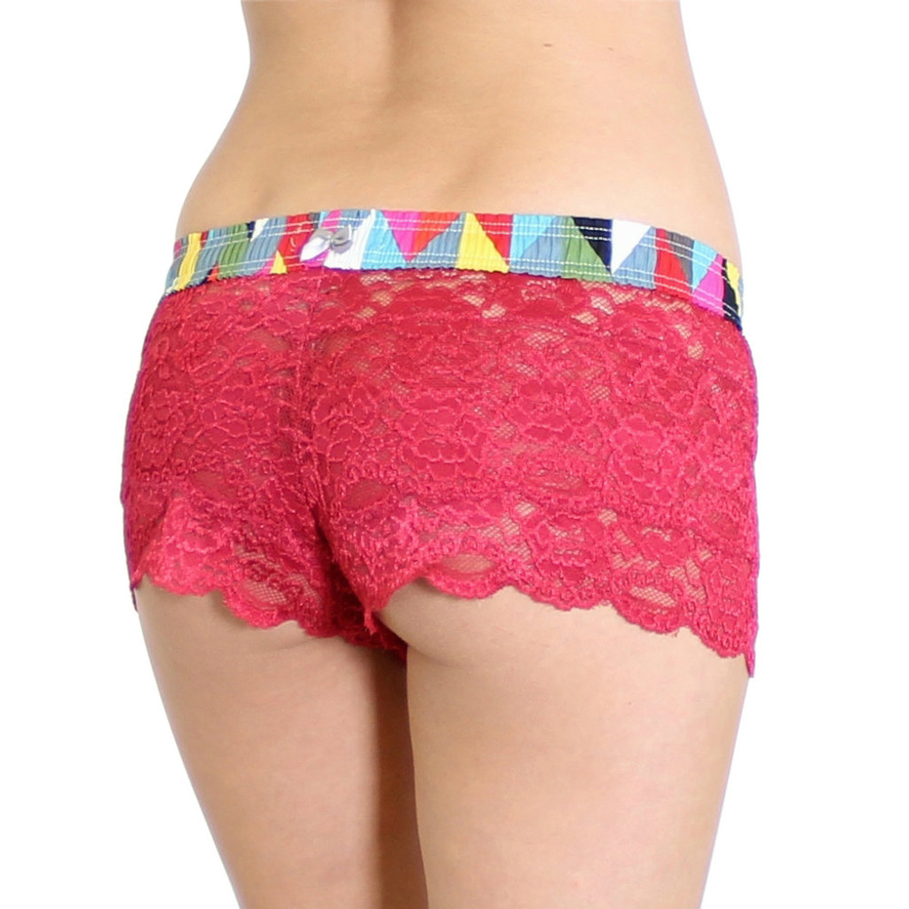 Papaya Lace Boxers Kaleidoscope FOXERS Band