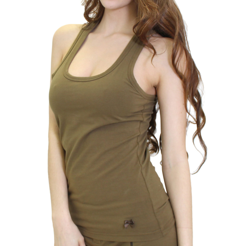 Womens Army Green Tank Top
