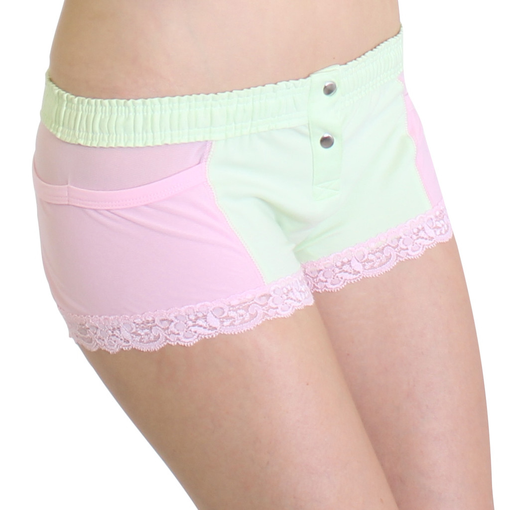 Mint Green Boxer Brief with Pink Accents