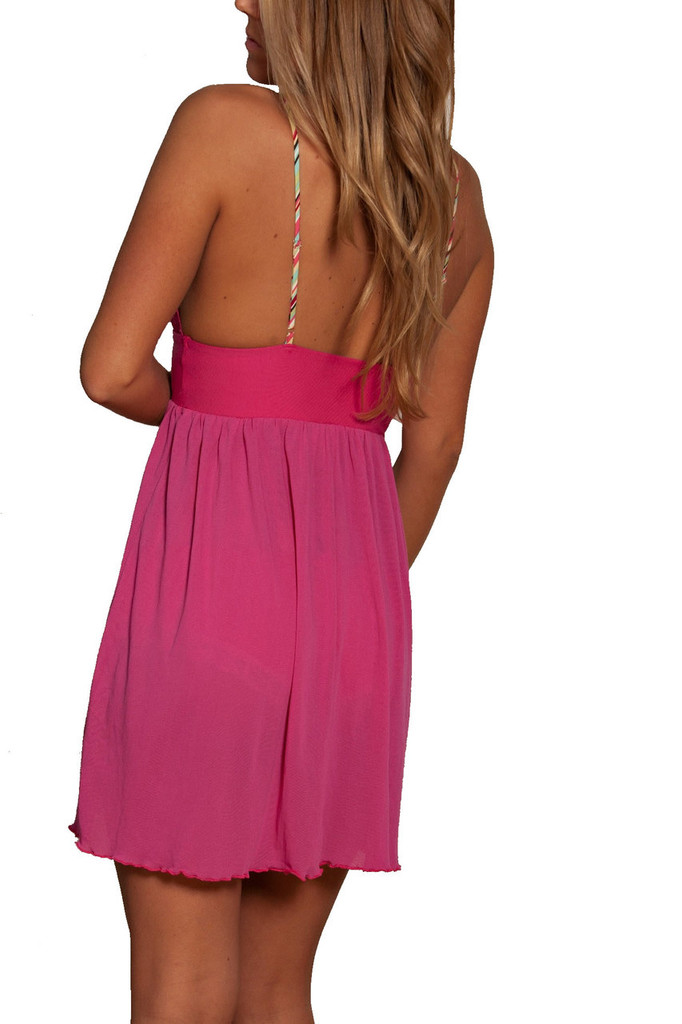 Bright Pink Sexy Night Gorwn