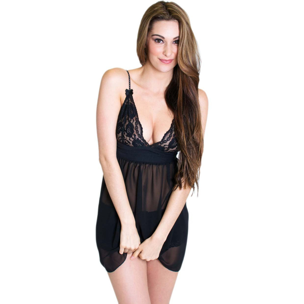 Black Lace Nighty