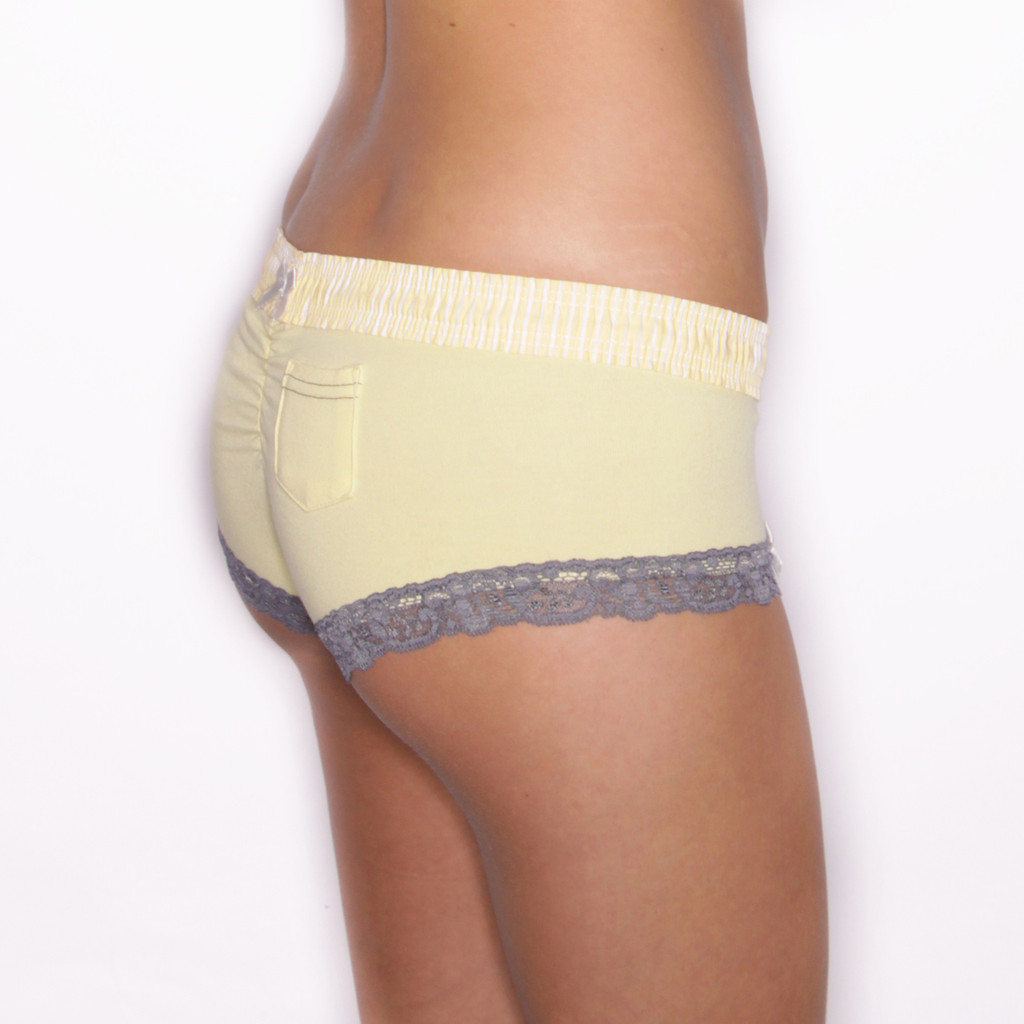 Yellow Boyshort with Yellow Waistband