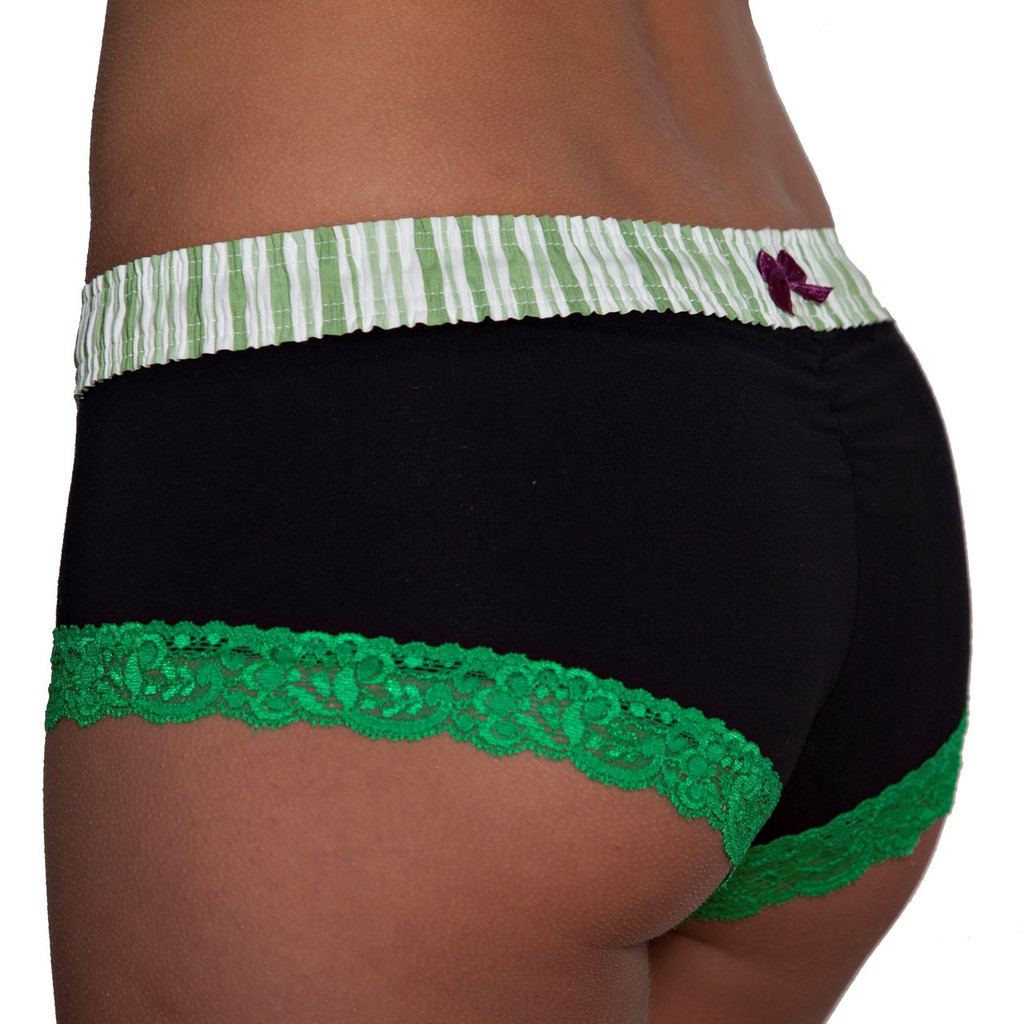 Green / Black Boyshort