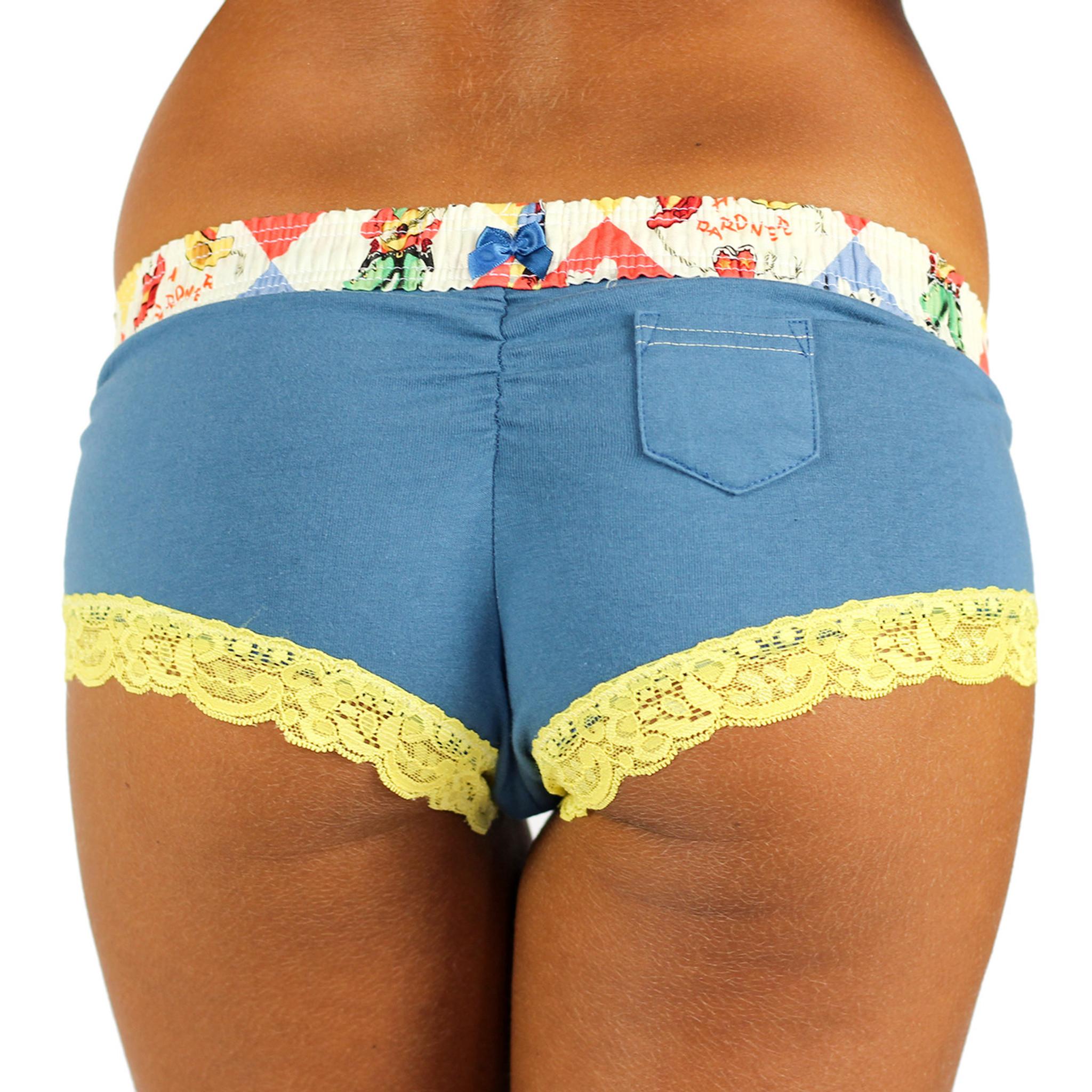 Women's Blue Cheekster Panties | Rodeo Waistband