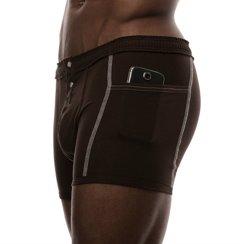 Brown underwear with pockets