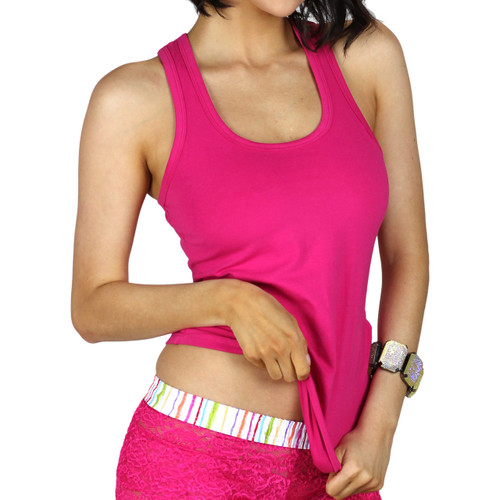 Fuchsia Racer Back Tank Top