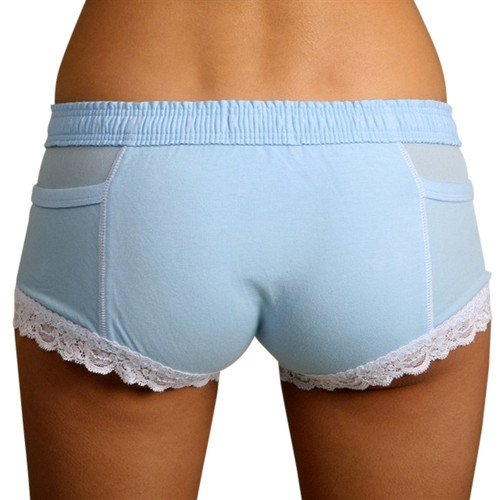 Powder blue girls boxer brief