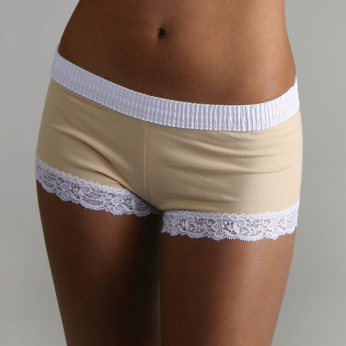 White over Mocha Boyshort