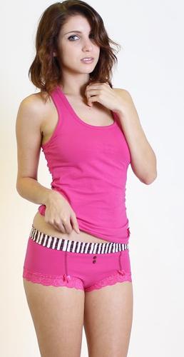 Fuchsia Pink Boyshorts and Matching Tank Top