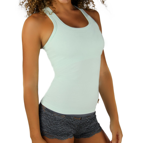 Mint Racer Back Tank Top