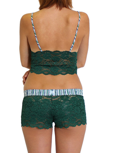 Alpine Striped Adjustable Straps on our Forest Green Lace Camisole