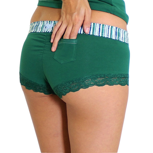 Alpine Stripe Green Boyshorts