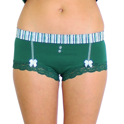 Forest Green Boyshort with Alpine Stripe FOXERS Band