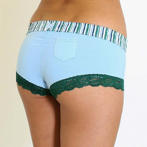 Cheeky Boyshort Panties | Light Blue