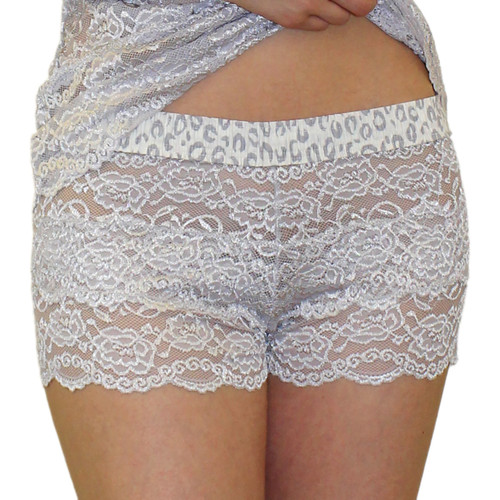 Silver Lace Women's Boxer Briefs