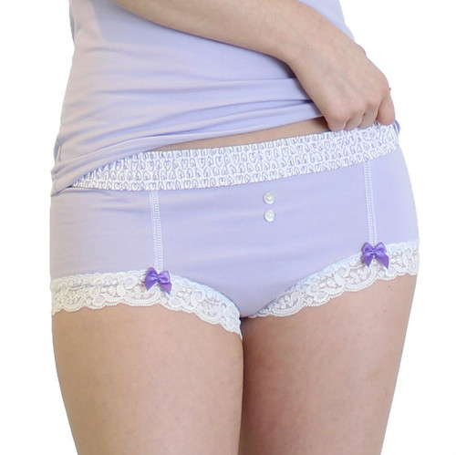 Lavender Boyshort with Lavender Heart FOXERS Band