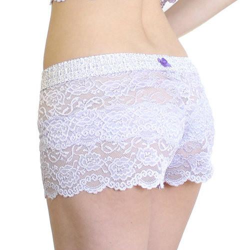 Lavender Lace Boxer shorts