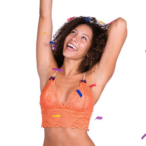Confetti Collection Orange Lace Camisole