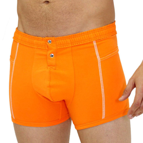 Men's Orange Boxer Brief