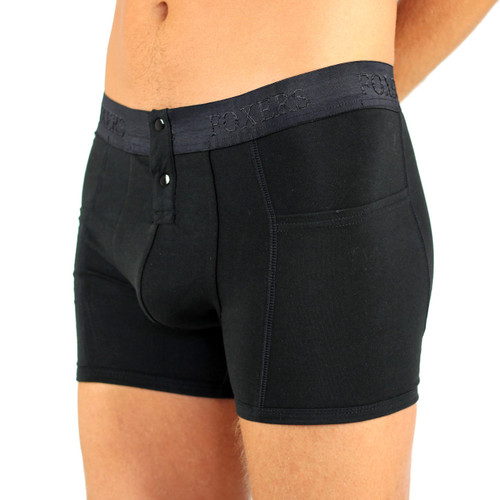 Foxers Men's Black Boxer Briefs