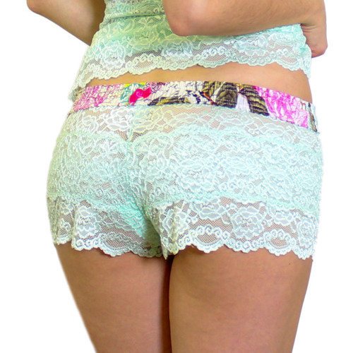 Mint Lace Womens Boxers | French Memoir FOXERS Band