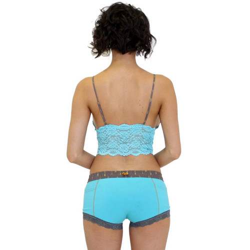 Turquoise Women's Boxer Brief with Arrow FOXERS Band