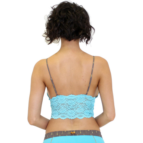 Turquoise Lace Crop Top
