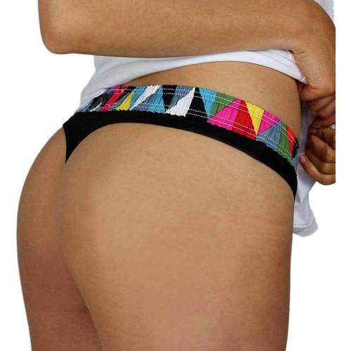 T-Back Tanga Black Underwear for Women