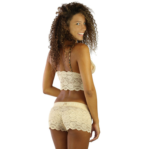 Our Women's Nude Lace Boxer Brief Undies are the perfect sleepwear! The butter soft cotton  feels great on your skin and breathes very well!