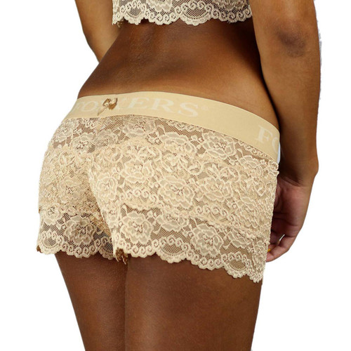 Nude Lace Boxers with Foxers Logo Waistband