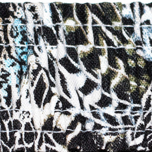 White Boyshorts with Feather Print Waistband
