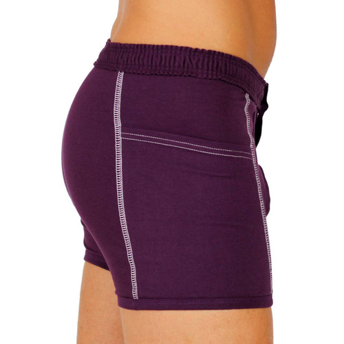 Purple Men's Boxer Briefs with Pockets