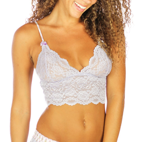 English Lavender Lace Top with Adjustable Straps