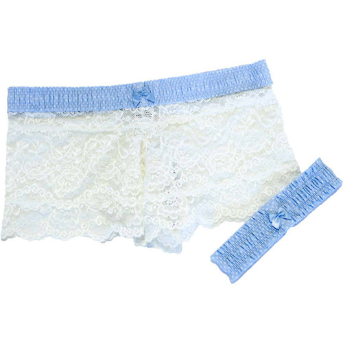 Pair this beautiful Wedding Garter with our matching Lace Boxers
