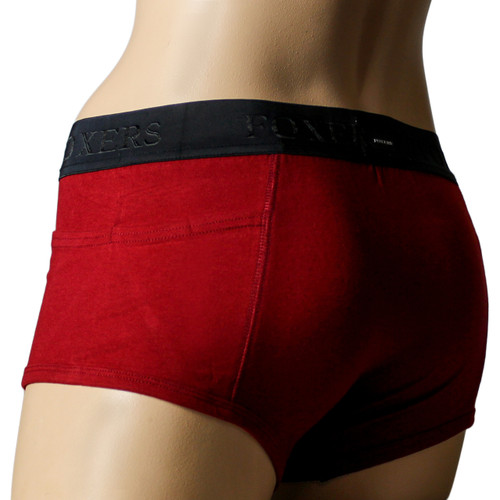 Black Cherry Tomboy Boxer Brief | Foxers