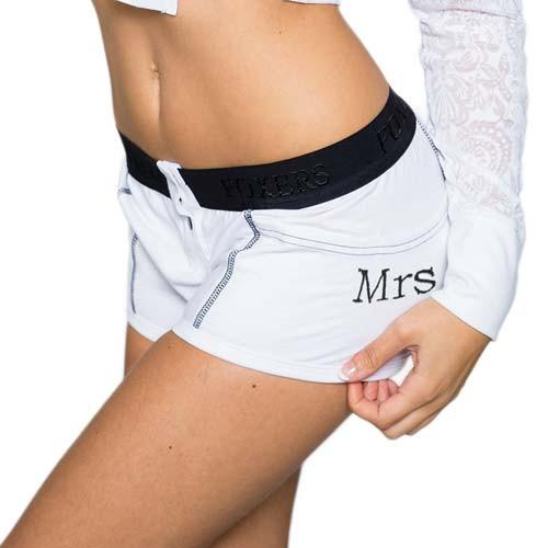 """Mrs"" Monogrammed Bridal Boxer Briefs   FOXERS (FXBBL-0201L-MRS)"