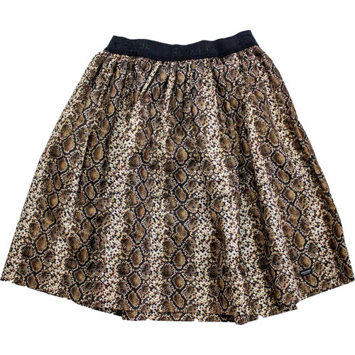 Snake Print Skirt With Pockets