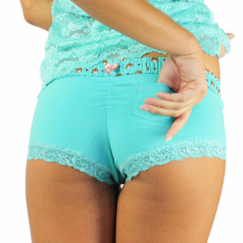 Ocean Turquoise Panties with Hedgehog Waistband