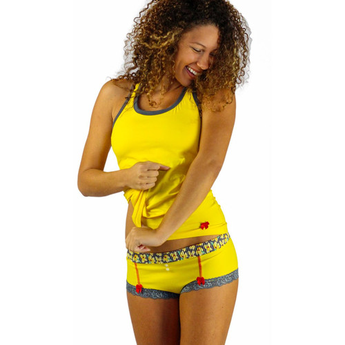 Bright Yellow Cotton Cheeky Boyshorts